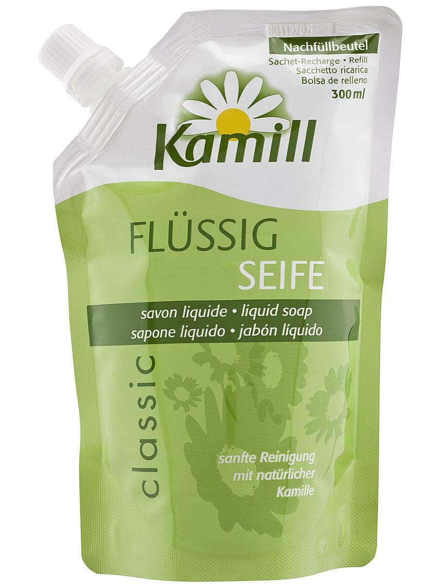 Мыло жидкое для рук Kamill Classic, запасной блок, 300 мл26950640Мыло жидкое для рук Kamill Classic с регулирующей баланс кожи формулой. Благодаря концентрированной силе ромашки снимает раздражение и нежно ухаживает за кожей. Ромашка обеспечивает дополнительную защиту и способствует регенерации клеток уставшей кожи рук. Мягкое мыло для рук очищает и предлагает натуральный уход.