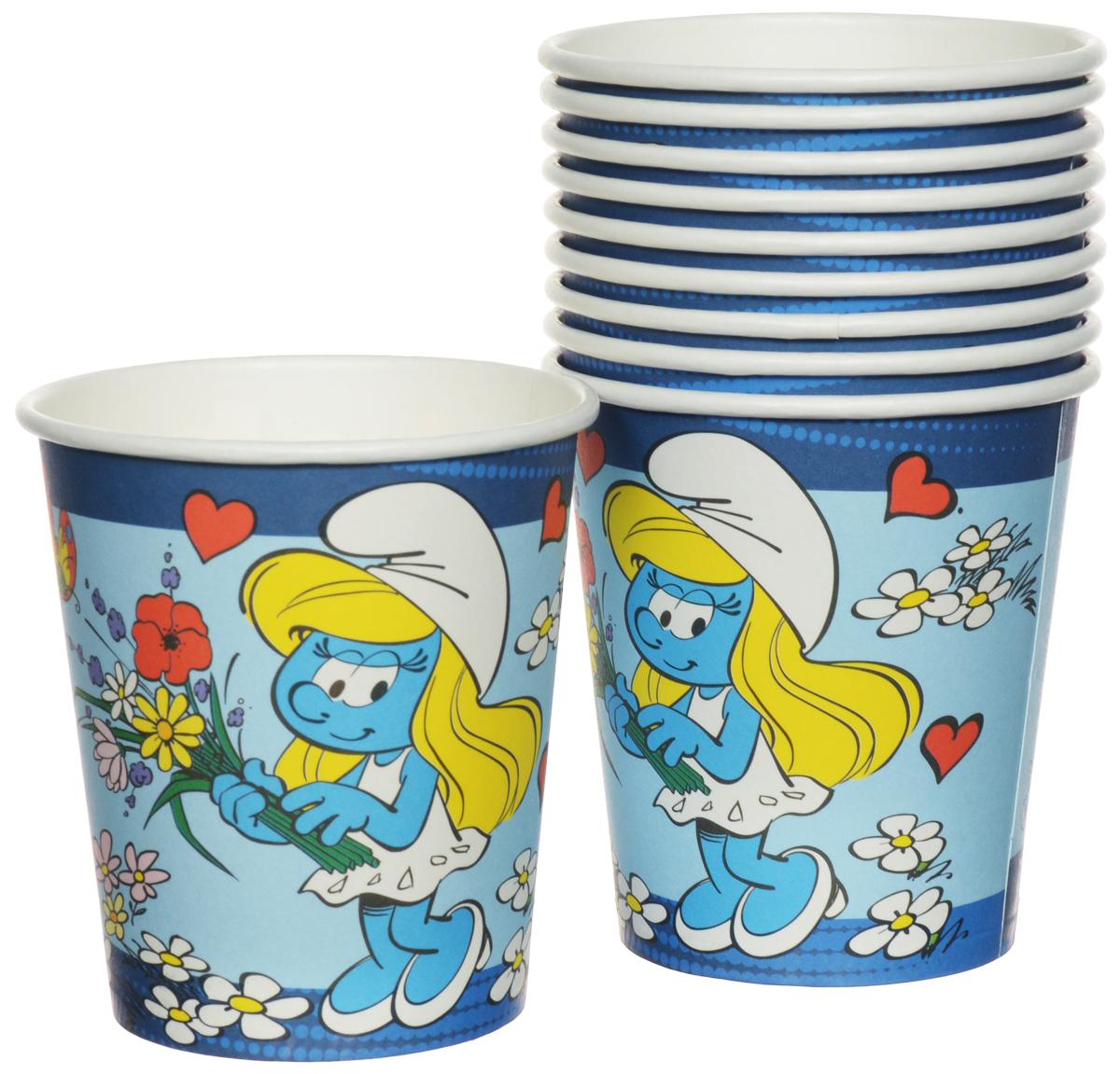 Смурфики Набор одноразовых стаканов цвет голубой 210 мл 10 шт26256_голубойОдноразовые стаканы Смурфики, изготовленные из картона, являются экологически чистыми и не наносят вреда здоровью, а также достаточно быстро самостоятельно утилизируются, не загрязняя окружающую среду. В набор входят 10 стаканов объемом 210 мл. Стаканы очень легкие, не могут разбиться и не нуждаются в мытье. Благодаря специальному покрытию, они отлично справляются со своей задачей: удерживают напитки, не промокают и не протекают. Набор одноразовых стаканов Смурфики станет прекрасным дополнением к любому детскому торжеству.