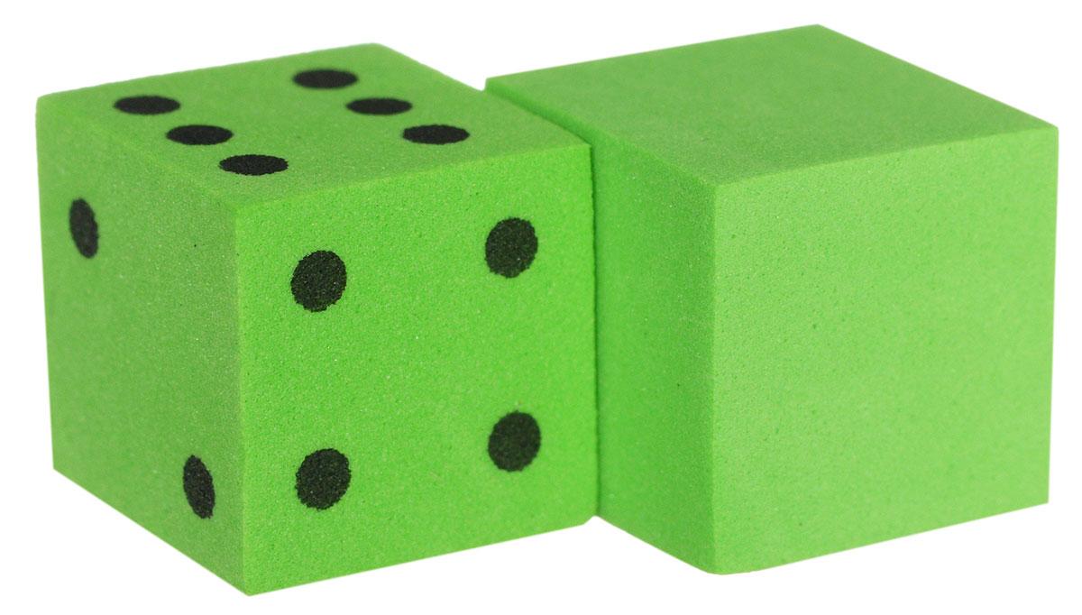 Koplow Games Набор игральных костей Шестигранный D6 цвет зеленый 2 шт17268_зеленыйНабор игральных костей Koplow Games Шестигранный предназначен для настольных игр. Набор состоит из двух шестигранных костей, на одну из которых нанесены точки от 1 до 6. Целью кубика является демонстрация случайно определенного целого числа от одного до шести, каждое из которых является равновозможным благодаря правильной геометрической форме. Игральные кости выполнены из мягкого пластика.