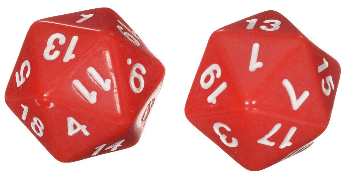 Koplow Games Набор игральных костей Простые D20 цвет красный 2 шт