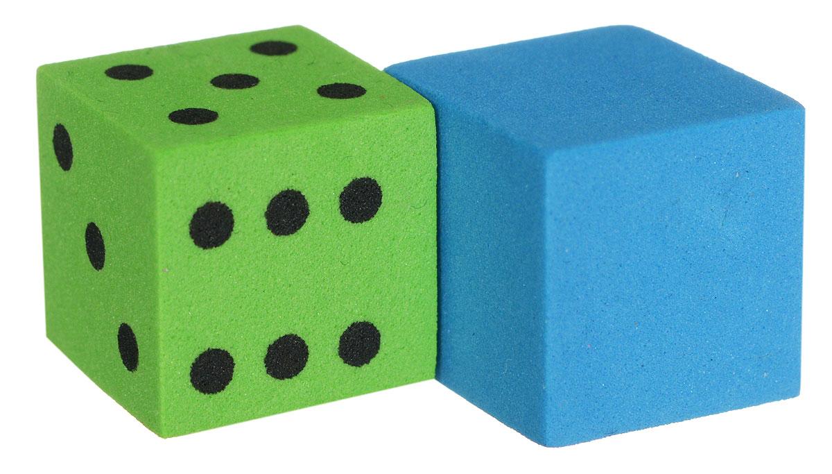 Koplow Games Набор игральных костей Шестигранный D6 цвет зеленый синий 2 шт17268_зеленый, синийНабор игральных костей Koplow Games Шестигранный предназначен для настольных игр. Набор состоит из двух шестигранных костей, на одну из которых нанесены точки от 1 до 6. Целью кубика является демонстрация случайно определенного целого числа от одного до шести, каждое из которых является равновозможным благодаря правильной геометрической форме. Игральные кости выполнены из мягкого пластика.