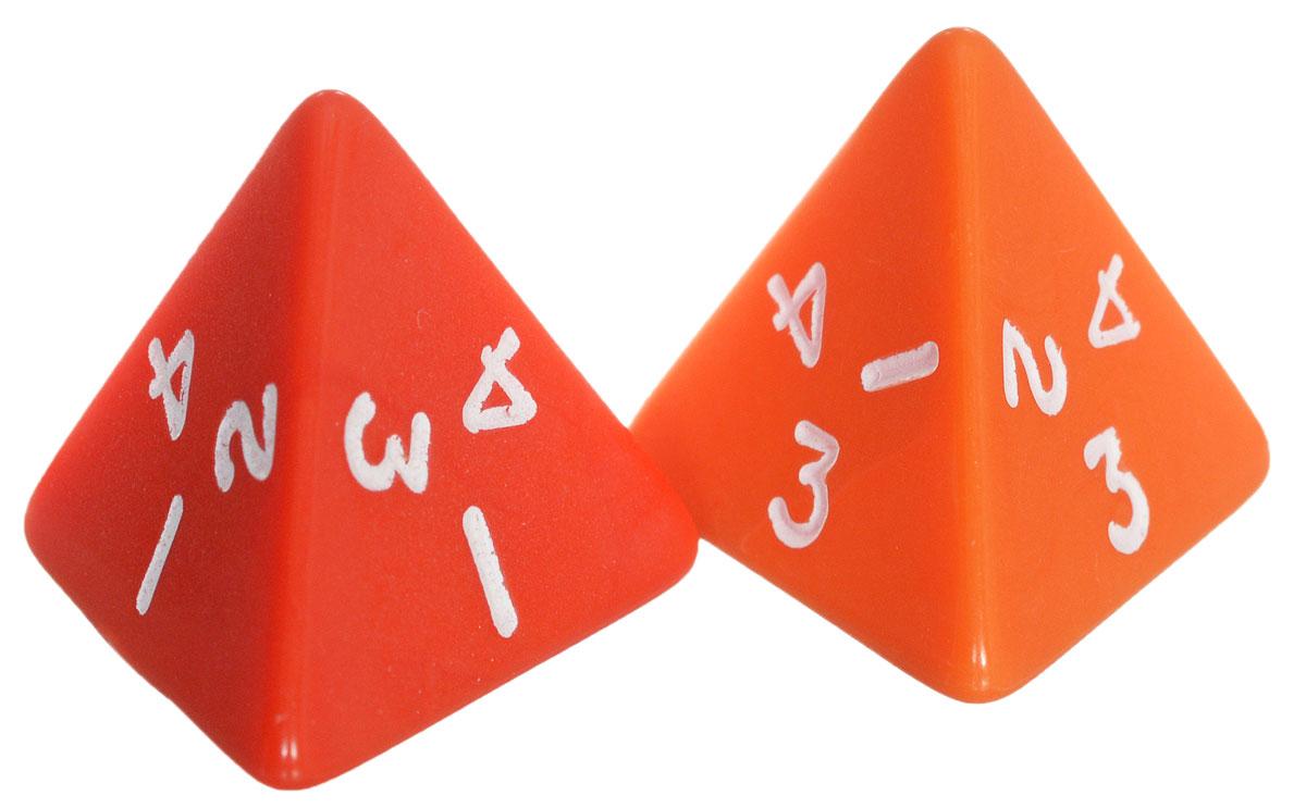 Koplow Games Набор игральных костей Простые D4 цвет оранжевый красный 2 шт