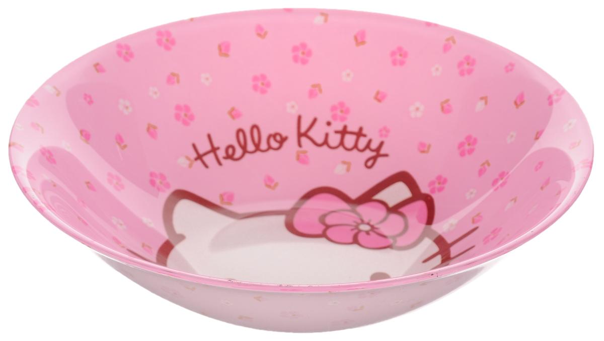 Миска Luminarc Hello Kitty Sweet Pink, диаметр 16,5 смH9226Миска Luminarc Hello Kitty Sweet Pink выполнена из высококачественного стекла. Она прекрасно впишется в интерьер вашей кухни и станет достойным дополнением к кухонному инвентарю. Миска Luminarc Hello Kitty Sweet Pink отлично подойдет для вашего ребенка. Диаметр миски (по верхнему краю): 16,5 см. Высота стенки: 4,5 см.
