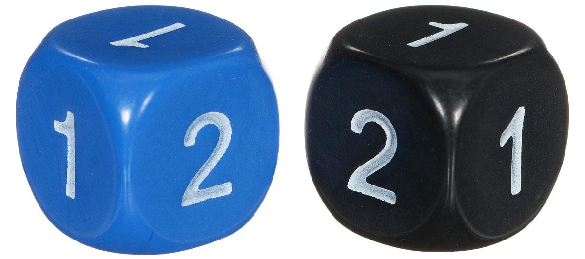 Koplow Games Набор игральных костей Простые D2 цвет синий черный 2 шт