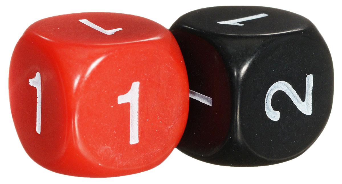 Koplow Games Набор игральных костей Простые D2 цвет красный черный 2 шт ( 13497_красный, черный )