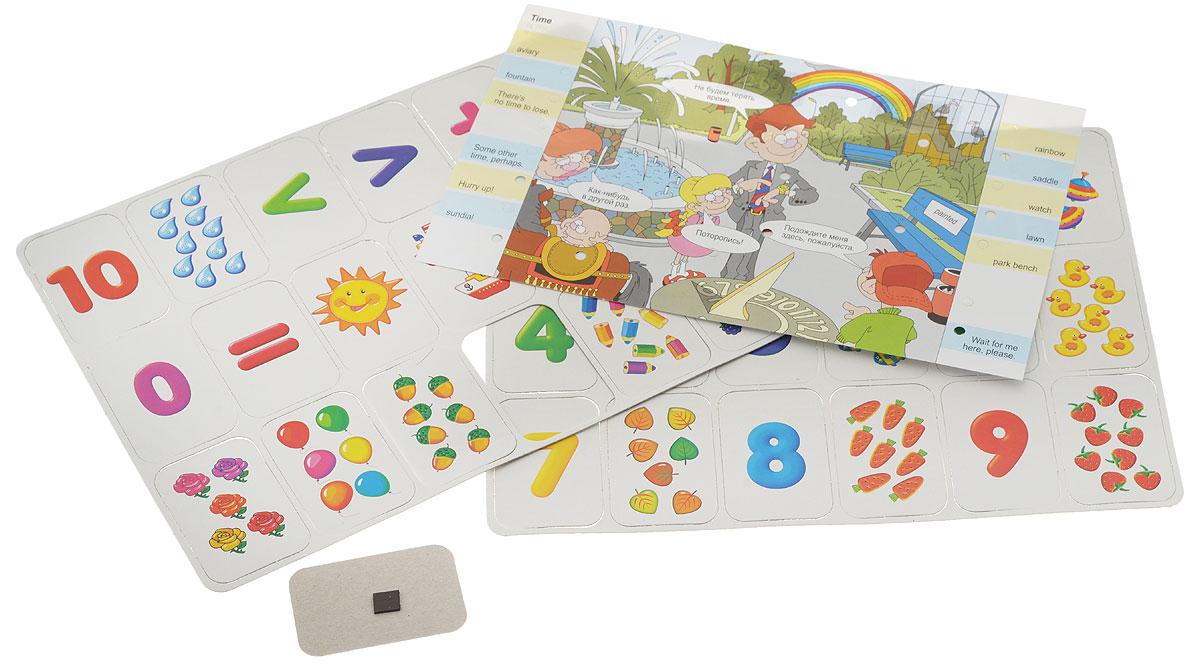 Дрофа-Медиа Игра на магнитах Учись считать!2966Игра на магнитах Дрофа-Медиа Учись считать! подходит для первого знакомства с цифрами и освоения счета от 1 до 10. Ребенок по очереди называет цифры и прикрепляет соответствующие карточки на магнитную поверхность. Когда порядковый счет будет освоен, можно сосчитать предметы на карточках. Игрок берет любую карточку с цифрой и подбирает к ней карточку с таким же количеством предметов. Дети постарше могут использовать математические знаки плюс, минус и знак равенства и составлять простые примеры.