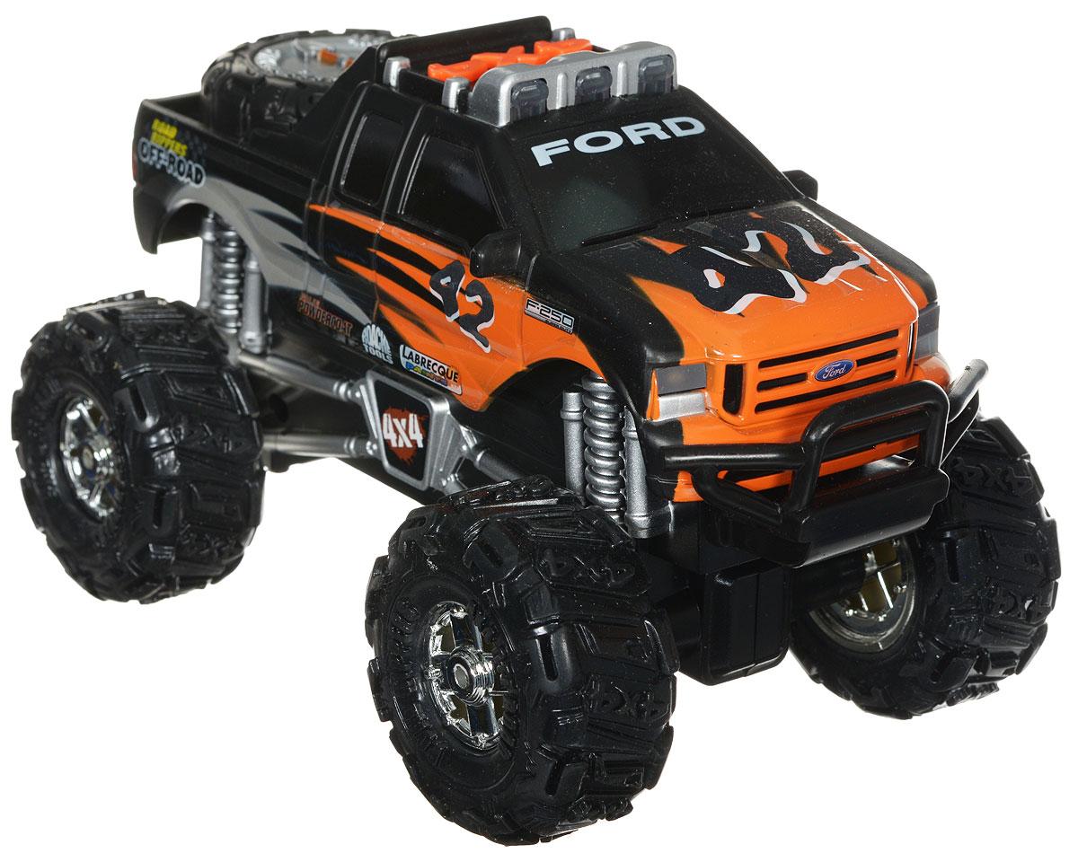 Toystate Машинка Toyota Tundra цвет черный оранжевый