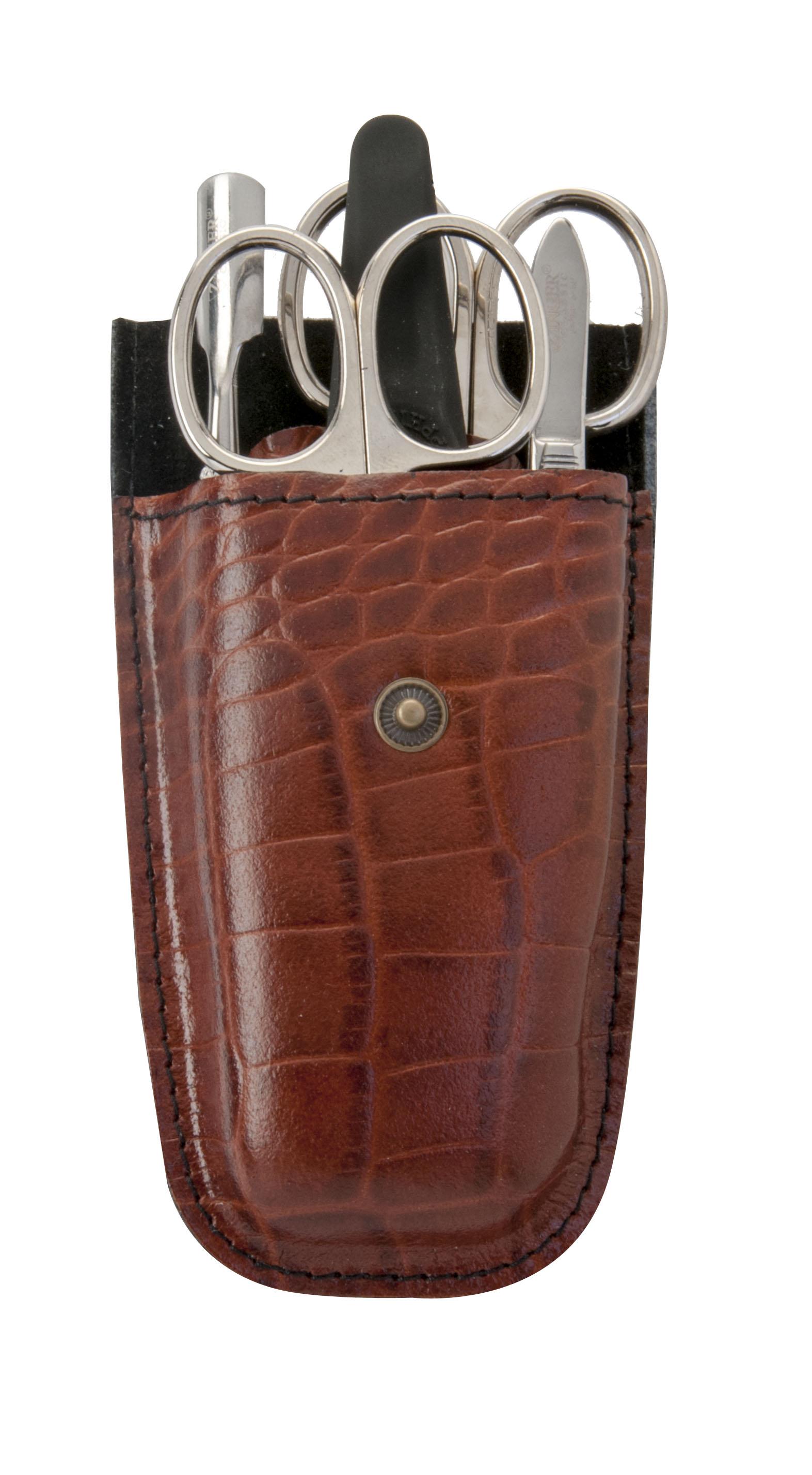 Zinger Маникюрный набор zMs Z-5-S-SF14647Ман. набор 5 предметов (ножницы кутикульные, ножницы ногтевые, пилка алмазная, металлический двусторонний шабер , пинцет). Чехол натуральная кожа. Цвет инструментов - глянцевое серебро. Оригинальня фирменная коробка