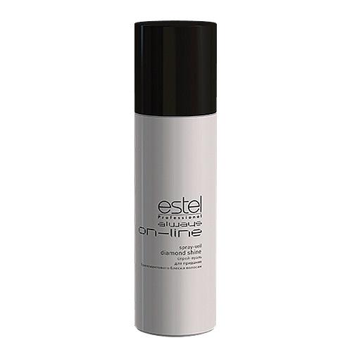 Estel Always On-Line - Спрей-вуаль для придания бриллиантового блеска волос 250 млOL.8Проблемы волос: Тусклость Инновационный спрей-вуаль для придания бриллиантового блеска волосам (без фиксации) гарантирует: Равномерное идеальное сияние Защиту от негативного воздействия окружающей среды Быстрое высыхание при распылении Результат: Не только великолепная укладка, но и забота о здоровье волос становятся первым пунктом для ESTEL Always ON-LINE.
