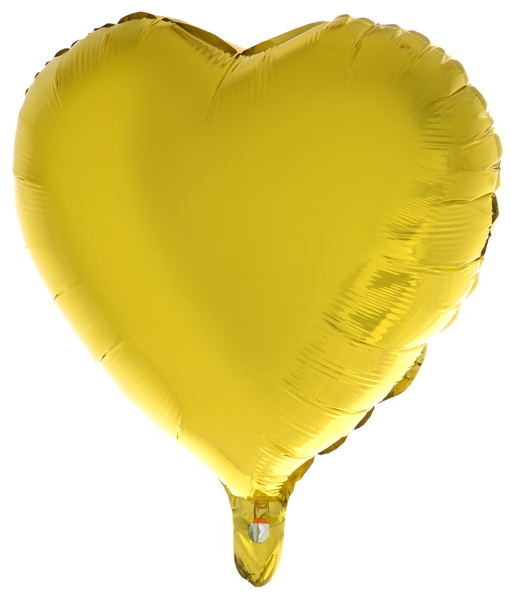 Action! Шар фольгированный Сердце, золотистыйAPI0218_золотистый