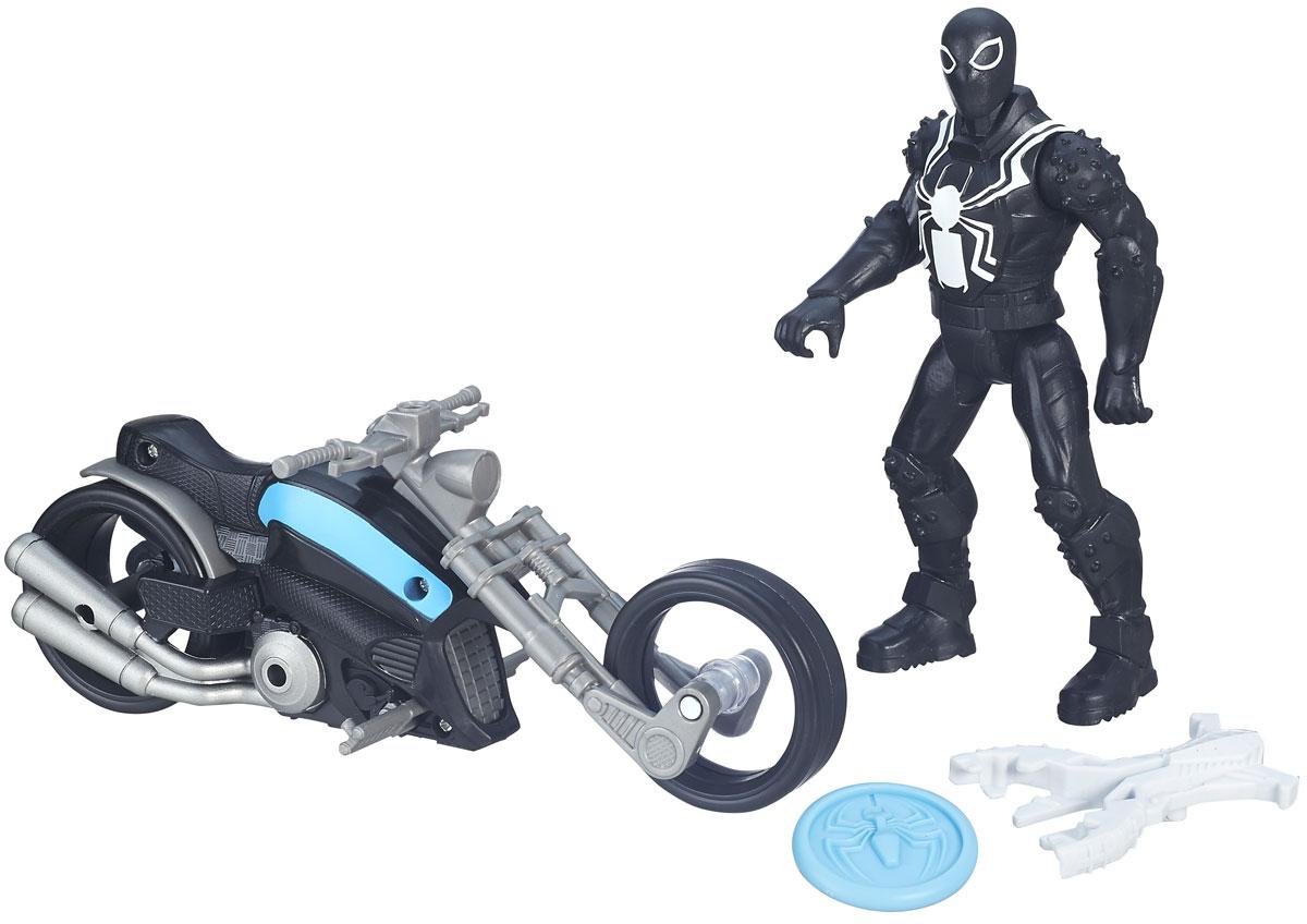 Spider-Man Фигурка Агент Веном на симбиоциклеB5760_B6393Агент Веном борется со злодеями на улицах города при помощи своего многократно ускоренного симбиоцикла! Разыгрывайте битвы против злодеев вместе с этой фигуркой Агента Венома и симбиотическим мотоциклом. В нем встроенная пусковая установка и снаряд. Фигурка Венома и симбиоцикл позволят представить, как любимый герой отправляется в грандиозное высокоскоростное сражение! Набор включает в себя фигурку, мотоцикл и снаряд. Фигурку можно снять с транспортного средства. Руки, ноги и голова подвижны. Порадуйте своего ребенка таким подарком!