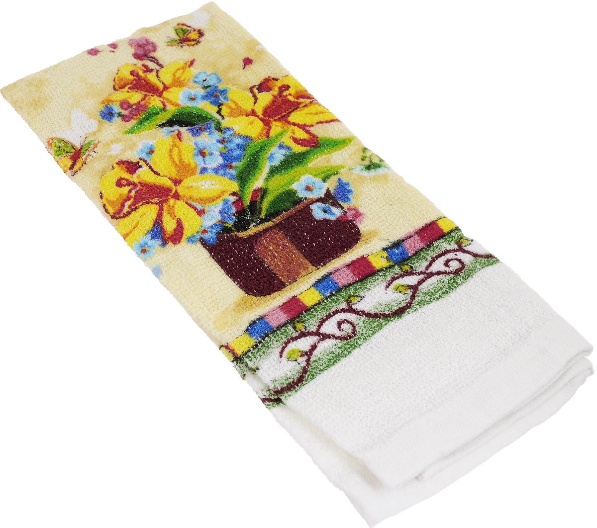 Полотенце кухонное Home Queen Нарциссы, 38 х 64 см53498_нарциссыКухонное полотенце Home Queen Нарциссы, выполненное из 100% хлопка, оформлено ярким рисунком. Изделие предназначено для использования на кухне и в столовой. Такое полотенце станет отличным вариантом для практичной и современной хозяйки.
