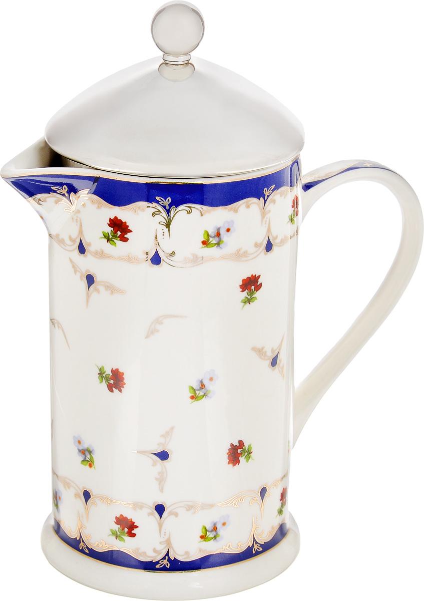 Френч-пресс Elan Gallery Цветочек, 750 мл503748Френч-пресс Elan Gallery Цветочек используется для заваривания крупнолистового чая, кофе среднего помола, травяных сборов. Изделие, изготовленное из высококачественной керамики и стали, декорировано красочным изображением. Френч-пресс Elan Gallery Цветочек незаменим для любителей чая и кофе. Не рекомендуется применить абразивные моющие средства. Не использовать в микроволновой печи. Объем: 750 мл. Диаметр (по верхнему краю): 9 см.