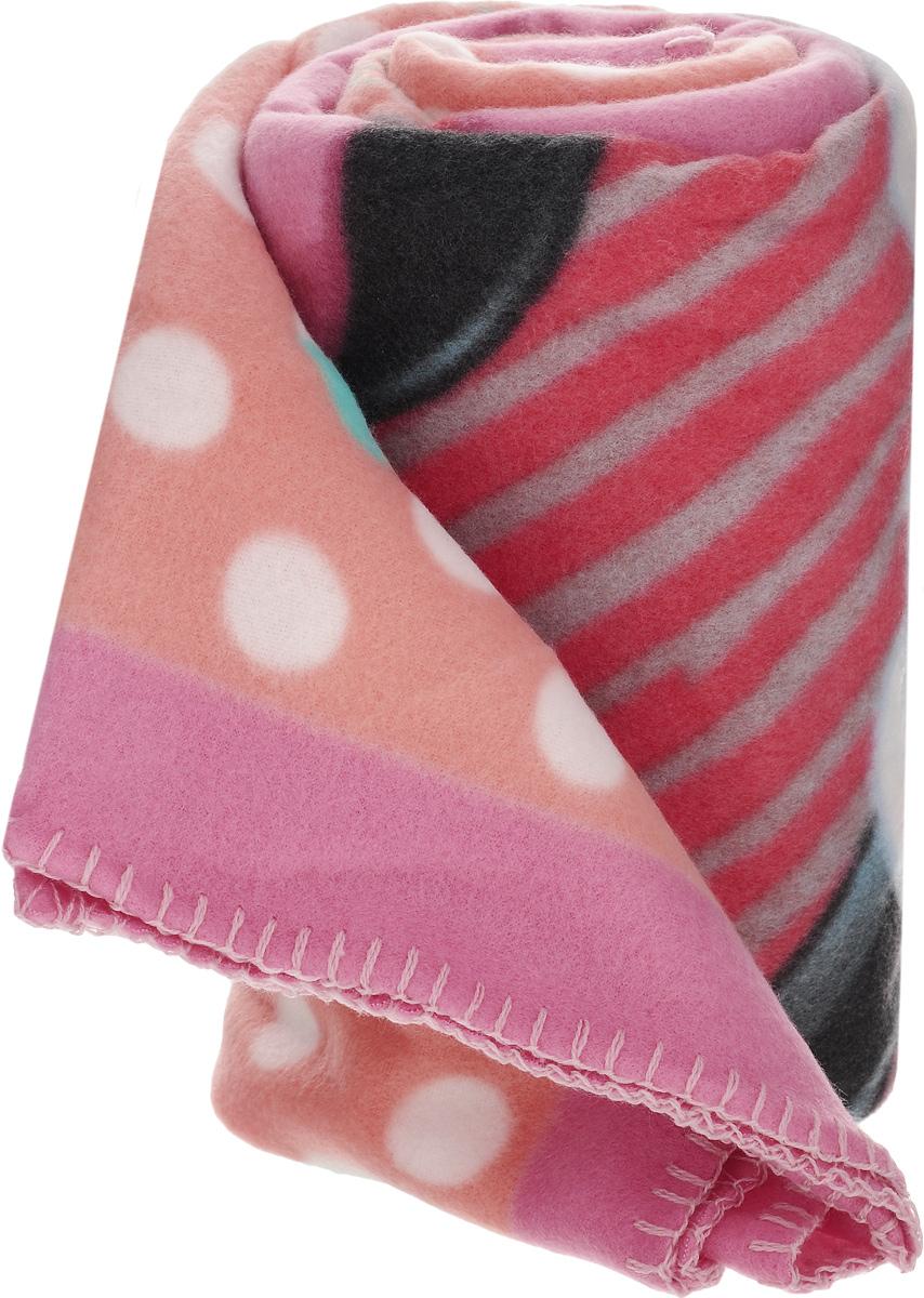 Плед флисовый Disney Минни Маус, цвет: розовый, черный, голубой, 130 х 160 см61892_рисунок2Нежный и теплый флисовый плед Disney Минни Маус может послужить удобным покрывалом для детской кроватки или согревать малыша вместо одеяла. Выполненный из полиэстера с использованием безопасных гипоаллергенных красителей, плед не теряет формы и цвета после многочисленных стирок и не мнется. Яркий рисунок из известного мультфильма радует глаз и вызывает у ребенка положительные эмоции.