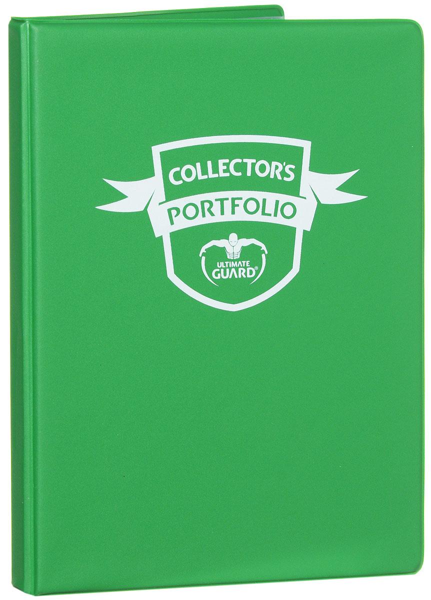 Ultimate Guard Альбом для карт Collectors Portfolio цвет зеленый08UG002_зеленыйАльбом для карт Ultimate Guard Collectors Portfolio с 10 встроенными листами на 4 кармана идеально подойдет для хранения любых игровых карт, таких как Magic the Gathering, Pokemon и другие. Особенности: Хранит до 80 карт в протекторах; 10 листов, каждая из которых содержит 4 кармана; Суперсклейка альбома и листов; Высокая степень прозрачности пленки.