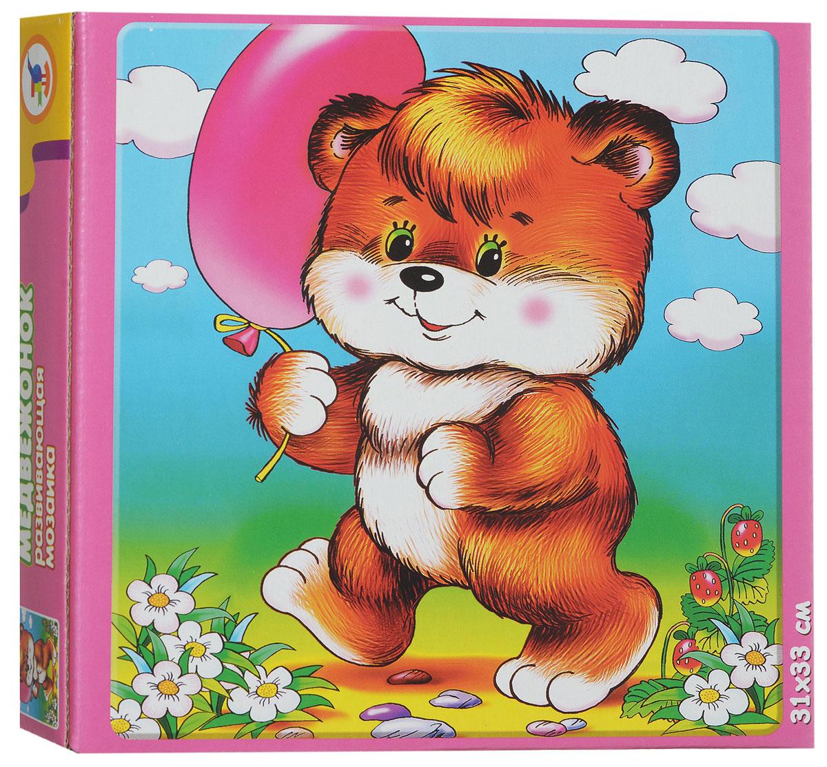 Дрофа-Медиа Пазл для малышей Медвежонок1293Пазл для малышей Дрофа-Медиа Медвежонок обязательно привлечет внимание даже самых маленьких детей. Собрав этот пазл, включающий в себя 16 элементов, вы получите картинку с изображением забавного медвежонка с воздушным шариком в лапке. Пазл научит ребенка усидчивости, умению доводить начатое дело до конца, поможет развить внимание, память, образное и логическое мышление, сенсорно-моторную координацию движения рук. Крупная и яркая форма собираемых элементов картинки способствуют развитию мелкой моторики, которая напрямую влияет на развитие речи и интеллектуальных способностей. В дальнейшем хорошая координация движений рук поможет ребенку легко овладеть письмом.