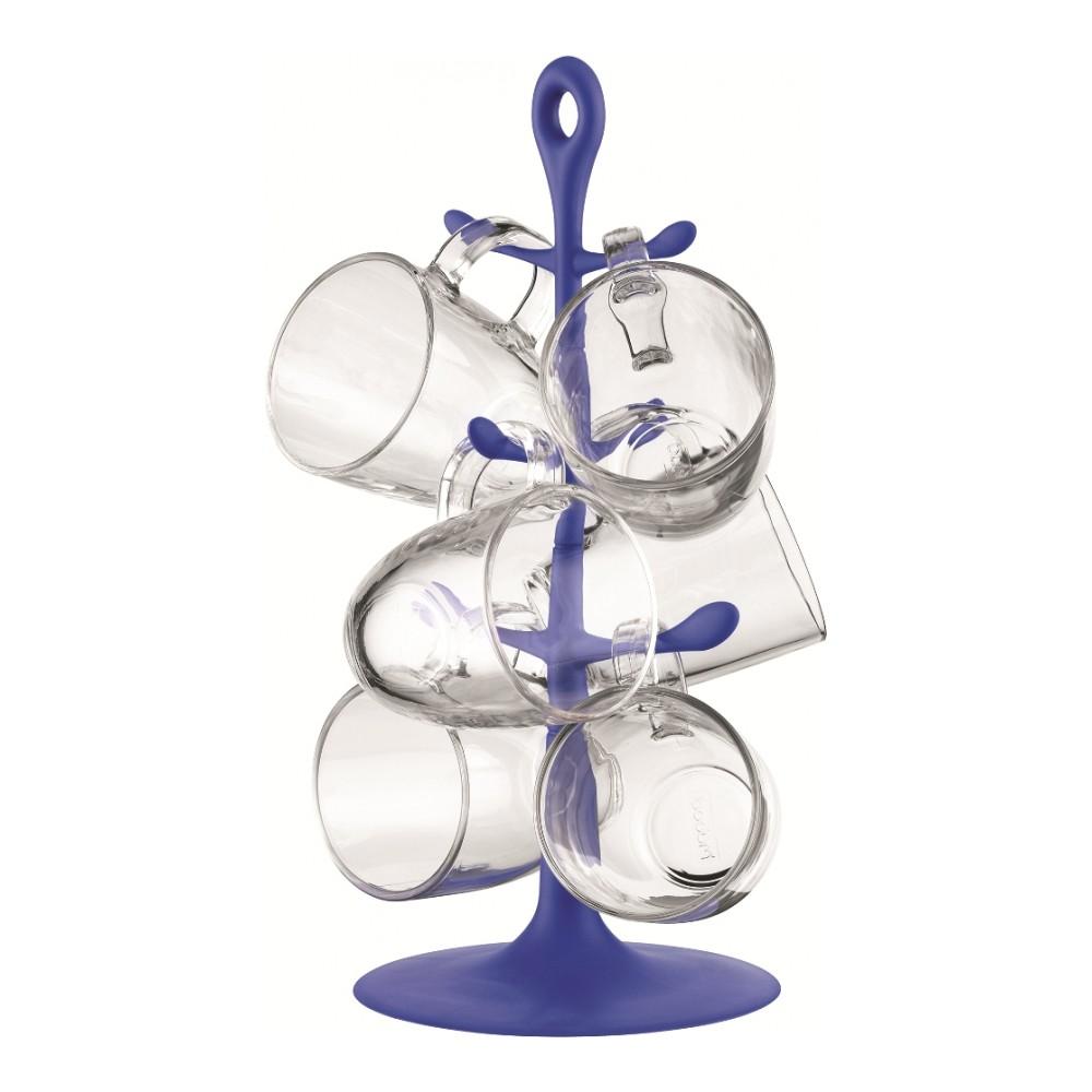 Набор кружек Bodum Copenhagen, цвет: прозрачный, фиолетовый, 7 предметовAK2110-XY-Y15-1_фиолетовыйНабор Bodum Copenhagen состоит из 6 кружек и подставки. Кружки выполнены из термостойкого стекла и очень удобны в использовании. Для компактного хранения предусмотрена пластиковая подставка. Такой набор стильно дополнит интерьер кухни, он станет отличным подарком к любому случаю. Можно использовать в микроволновой печи и мыть в посудомоечной машине. Объем кружки: 350 мл. Диаметр кружки (по верхнему краю): 9 см. Высота кружки: 10,5 см. Размер подставки: 17 х 17 х 36 см.