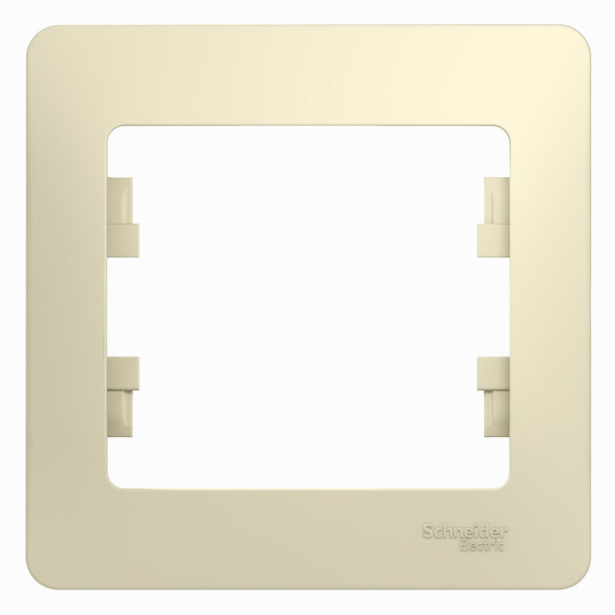 Рамка для встраиваемой розетки Schneider Electric Glossa, на 1 пост, цвет: бежевыйGSL000201Рамка Schneider Electric Glossa выполнена из пластика и используется для окантовки встраиваемой розетки. Рамка отвечает основным требованиям безопасности и удобства монтажа. Современный дизайн и элегантная цветовая гамма подойдут к любому интерьеру. Размер рамки: 8,5 х 8,5 х 1 см.