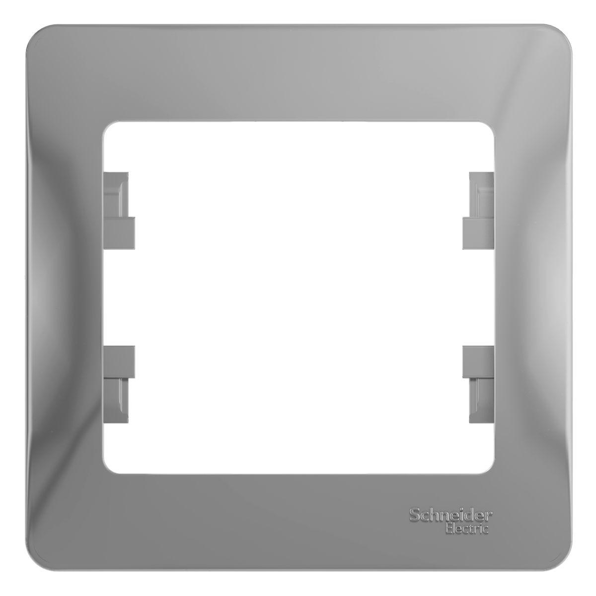 Рамка для встраиваемой розетки Schneider Electric Glossa, на 1 пост, цвет: алюминийGSL000301Рамка Schneider Electric Glossa выполнена из пластика и используется для окантовки встраиваемой розетки. Рамка отвечает основным требованиям безопасности и удобства монтажа. Современный дизайн и элегантная цветовая гамма подойдут к любому интерьеру. Размер рамки: 8,5 х 8,5 х 1 см.