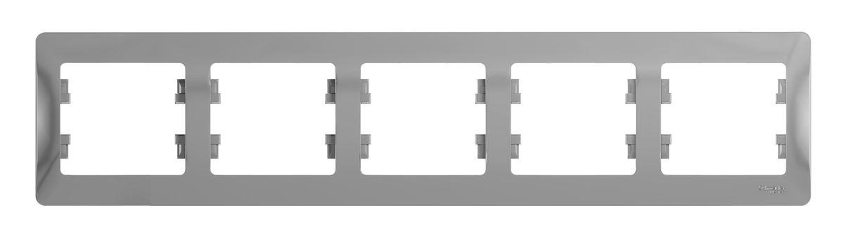 Рамка для встраиваемой розетки Schneider Electric Glossa, на 5 постов, горизонтальный монтаж, цвет: алюминийGSL000305Рамка Schneider Electric Glossa выполнена из пластика и используется для окантовки встраиваемой розетки. Монтаж изделия горизонтальный. Рамка отвечает основным требованиям безопасности и удобства монтажа. Современный дизайн и элегантная цветовая гамма подойдут к любому интерьеру. Размер рамки: 36,5 х 8,5 х 1 см.
