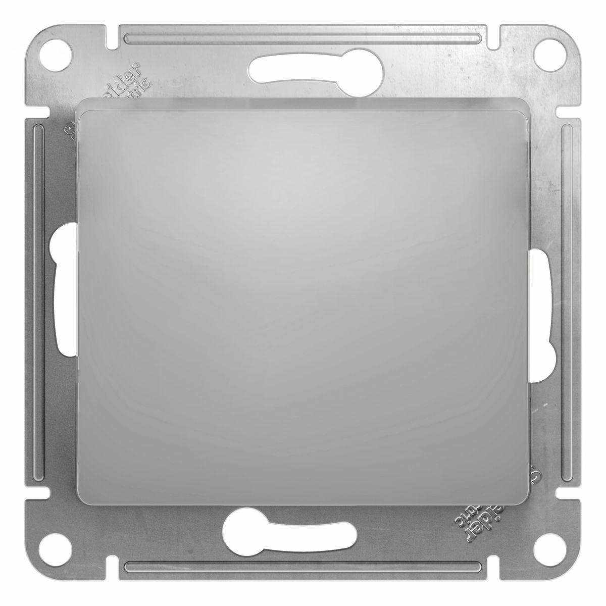 Выключатель Schneider Electric Glossa, цвет: алюминийGSL000311Одноклавишный выключатель Schneider Electric Glossa предназначен для скрытой установки. Выполнен из высококачественного пластика и стали. Выключатель имеет специальные фиксаторы, которые не дают ему смещаться как при монтаже, так и в процессе эксплуатации. Винтовые зажимы кабеля обеспечивают надежную установку к электросети с помощью отвертки. Такой выключатель станет удачным решением для дома и дачи.