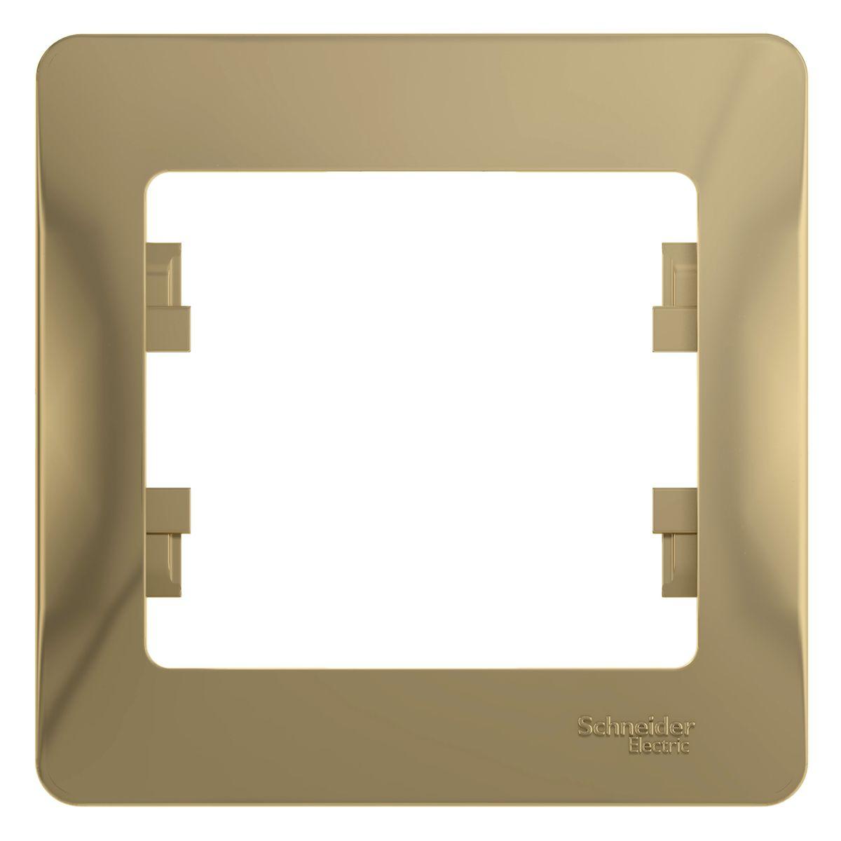 Рамка для встраиваемой розетки Schneider Electric Glossa, на 1 пост, цвет: титановыйGSL000401Рамка Schneider Electric Glossa выполнена из пластика и используется для окантовки встраиваемой розетки. Рамка отвечает основным требованиям безопасности и удобства монтажа. Современный дизайн и элегантная цветовая гамма подойдут к любому интерьеру. Размер рамки: 8,5 х 8,5 х 1 см.