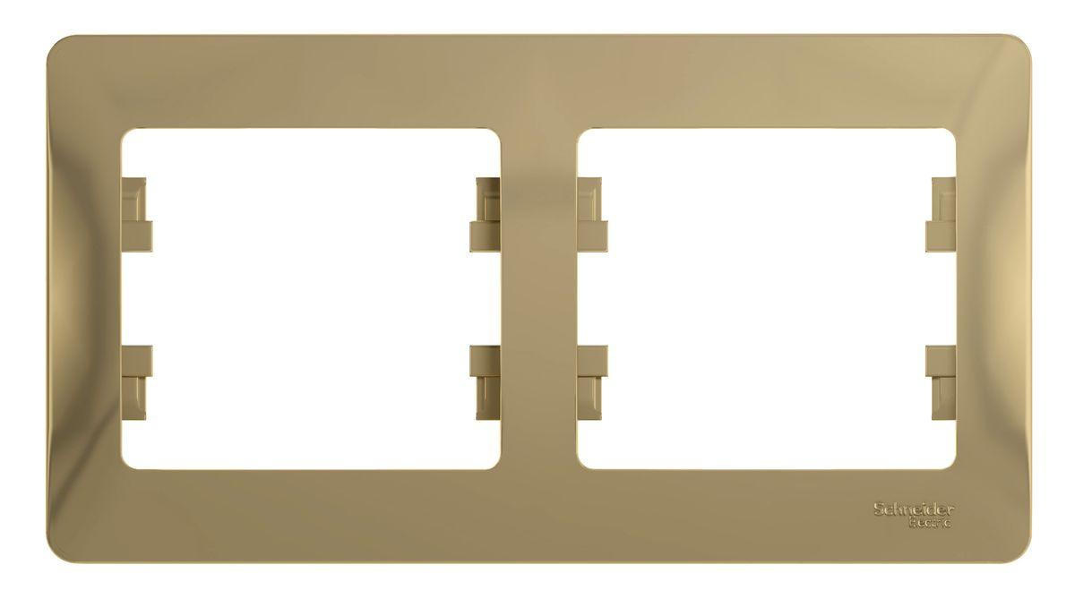 Рамка для встраиваемой розетки Schneider Electric Glossa, на 2 поста, горизонтальный монтаж, цвет: титановыйGSL000402Рамка Schneider Electric Glossa выполнена из пластика и используется для окантовки встраиваемой розетки. Монтаж изделия горизонтальный. Рамка отвечает основным требованиям безопасности и удобства монтажа. Современный дизайн и элегантная цветовая гамма подойдут к любому интерьеру. Размер рамки: 15,5 х 8,5 х 1 см.