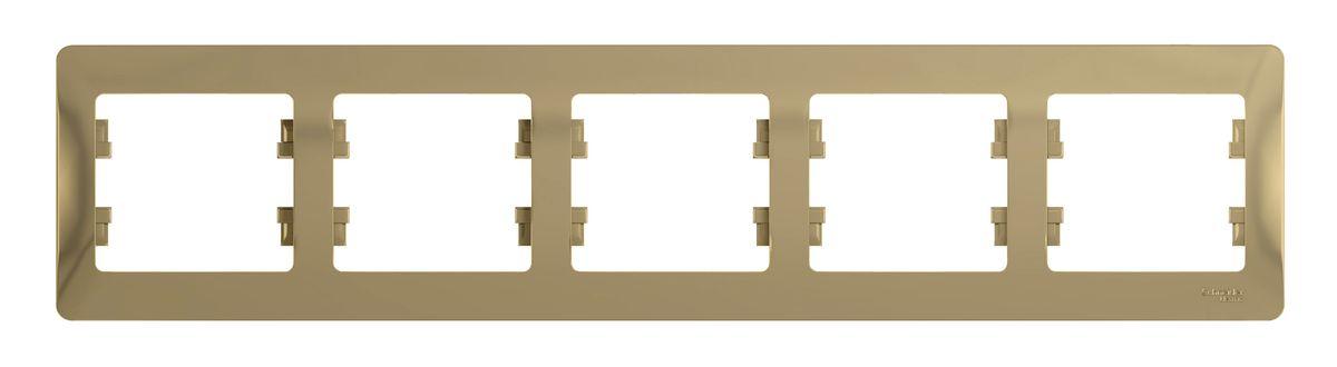 Рамка для встраиваемой розетки Schneider Electric Glossa, на 5 постов, горизонтальный монтаж, цвет: титановыйGSL000405Рамка Schneider Electric Glossa выполнена из пластика и используется для окантовки встраиваемой розетки. Монтаж изделия горизонтальный. Рамка отвечает основным требованиям безопасности и удобства монтажа. Современный дизайн и элегантная цветовая гамма подойдут к любому интерьеру. Размер рамки: 36,5 х 8,5 х 1 см.