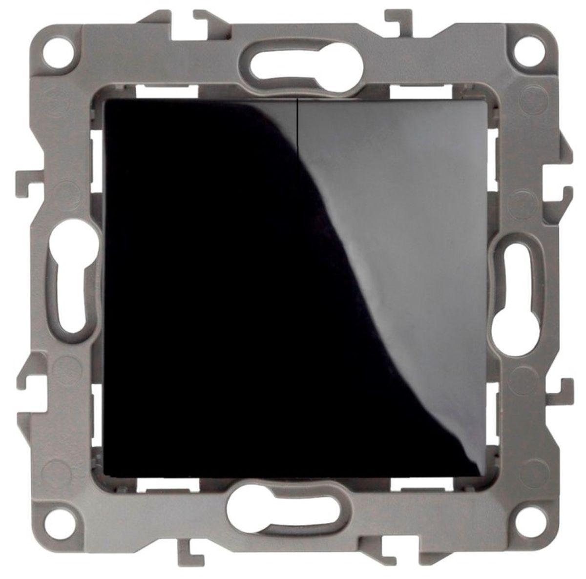 Переключатель ЭРА двойной, 10АХ-250В, Эра12, черный