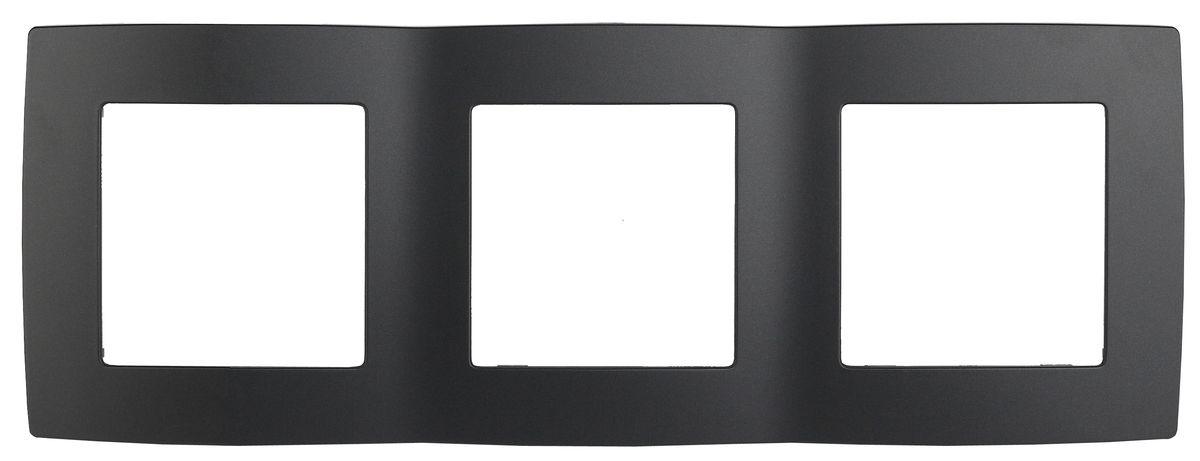 Рамка для встраиваемой розетки Эра, на 3 поста, горизонтальный и вертикальный монтаж, цвет: антрацит12-5003-05Рамка Эра выполнена из пластика и используется для окантовки встраиваемой розетки. Возможен как горизонтальный, так и вертикальный монтаж изделия. Рамка отвечает основным требованиям безопасности и удобства монтажа. Современный дизайн и элегантная цветовая гамма подойдут к любому интерьеру. Размер рамки: 22,5 х 8 х 1 см.