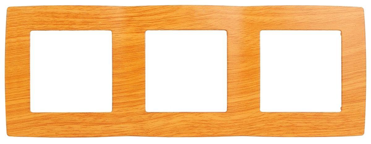 Рамка для встраиваемой розетки Эра, на 3 поста, горизонтальный и вертикальный монтаж, цвет: ольха12-5003-07Рамка Эра выполнена из пластика и используется для окантовки встраиваемой розетки. Возможен как горизонтальный, так и вертикальный монтаж изделия. Рамка отвечает основным требованиям безопасности и удобства монтажа. Современный дизайн и элегантная цветовая гамма подойдут к любому интерьеру. Размер рамки: 22,5 х 8 х 1 см.