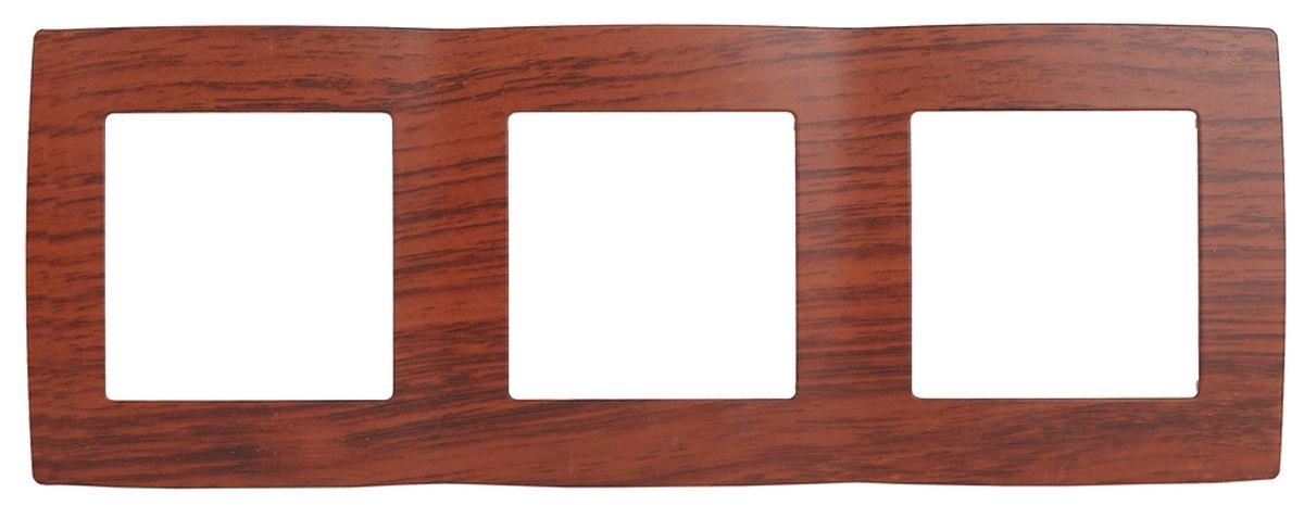 Рамка для встраиваемой розетки Эра, на 3 поста, горизонтальный и вертикальный монтаж, цвет: вишня12-5003-08Рамка Эра выполнена из пластика и используется для окантовки встраиваемой розетки. Возможен как горизонтальный, так и вертикальный монтаж изделия. Рамка отвечает основным требованиям безопасности и удобства монтажа. Современный дизайн и элегантная цветовая гамма подойдут к любому интерьеру. Размер рамки: 22,5 х 8 х 1 см.