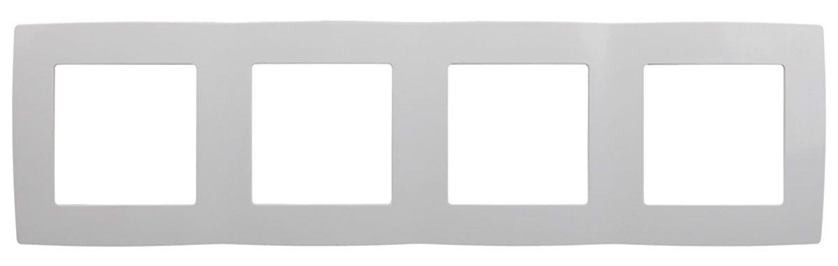 Рамка для встраиваемой розетки Эра, на 4 поста, горизонтальный и вертикальный монтаж, цвет: белый12-5004-01Рамка Эра выполнена из пластика и используется для окантовки встраиваемой розетки. Возможен как горизонтальный, так и вертикальный монтаж изделия. Рамка отвечает основным требованиям безопасности и удобства монтажа. Современный дизайн и элегантная цветовая гамма подойдут к любому интерьеру. Размер рамки: 29,5 х 8 х 1 см.