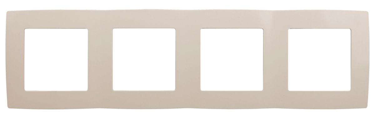 Рамка для встраиваемой розетки Эра, на 4 поста, горизонтальный и вертикальный монтаж, цвет: слоновая кость12-5004-02Рамка Эра выполнена из пластика и используется для окантовки встраиваемой розетки. Возможен как горизонтальный, так и вертикальный монтаж изделия. Рамка отвечает основным требованиям безопасности и удобства монтажа. Современный дизайн и элегантная цветовая гамма подойдут к любому интерьеру. Размер рамки: 29,5 х 8 х 1 см.
