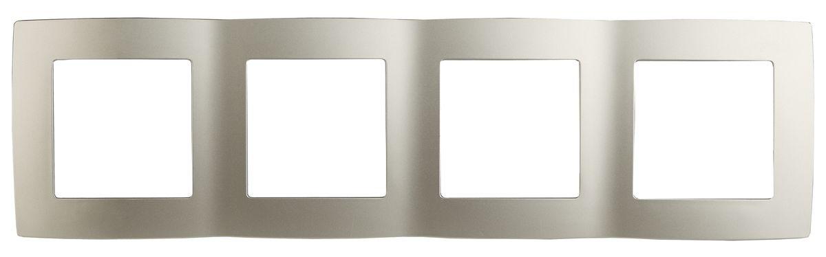 Рамка для встраиваемой розетки Эра, на 4 поста, горизонтальный и вертикальный монтаж, цвет: шампань12-5004-04Рамка Эра выполнена из пластика и используется для окантовки встраиваемой розетки. Возможен как горизонтальный, так и вертикальный монтаж изделия. Рамка отвечает основным требованиям безопасности и удобства монтажа. Современный дизайн и элегантная цветовая гамма подойдут к любому интерьеру. Размер рамки: 29,5 х 8 х 1 см.