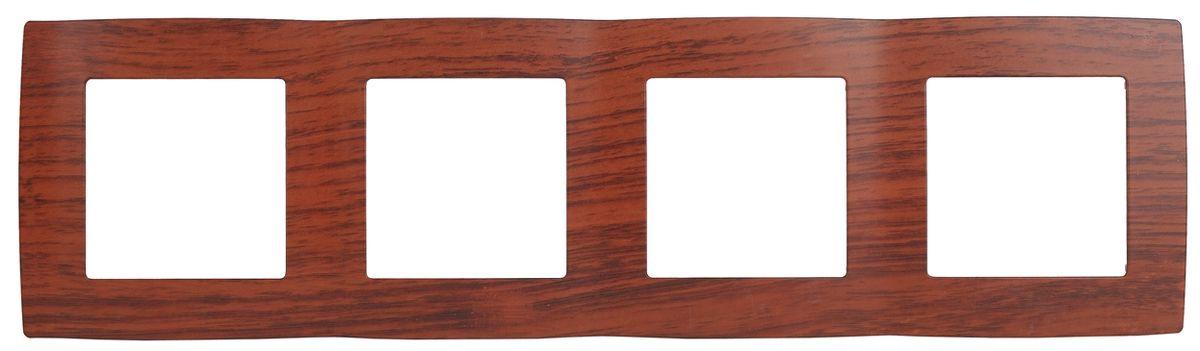 Рамка для встраиваемой розетки Эра, на 4 поста, горизонтальный и вертикальный монтаж, цвет: вишня12-5004-08Рамка Эра выполнена из пластика и используется для окантовки встраиваемой розетки. Возможен как горизонтальный, так и вертикальный монтаж изделия. Рамка отвечает основным требованиям безопасности и удобства монтажа. Современный дизайн и элегантная цветовая гамма подойдут к любому интерьеру. Размер рамки: 29,5 х 8 х 1 см.