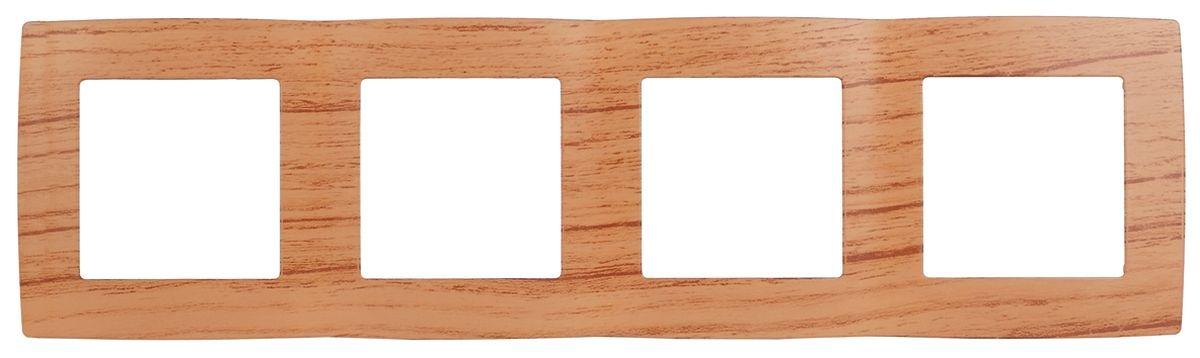 Рамка для встраиваемой розетки Эра, на 4 поста, горизонтальный и вертикальный монтаж, цвет: дуб12-5004-09Рамка Эра выполнена из пластика и используется для окантовки встраиваемой розетки. Возможен как горизонтальный, так и вертикальный монтаж изделия. Рамка отвечает основным требованиям безопасности и удобства монтажа. Современный дизайн и элегантная цветовая гамма подойдут к любому интерьеру. Размер рамки: 29,5 х 8 х 1 см.