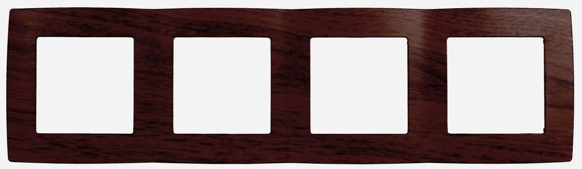 Рамка для встраиваемой розетки Эра, на 4 поста, горизонтальный и вертикальный монтаж, цвет: венге12-5004-10Рамка Эра выполнена из пластика и используется для окантовки встраиваемой розетки. Возможен как горизонтальный, так и вертикальный монтаж изделия. Рамка отвечает основным требованиям безопасности и удобства монтажа. Современный дизайн и элегантная цветовая гамма подойдут к любому интерьеру. Размер рамки: 29,5 х 8 х 1 см.