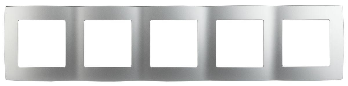 Рамка для встраиваемой розетки Эра, на 5 постов, горизонтальный и вертикальный монтаж, цвет: алюминий12-5005-03Рамка Эра выполнена из пластика и используется для окантовки встраиваемой розетки. Возможен как горизонтальный, так и вертикальный монтаж изделия. Рамка отвечает основным требованиям безопасности и удобства монтажа. Современный дизайн и элегантная цветовая гамма подойдут к любому интерьеру. Размер рамки: 36,5 х 8 х 1 см.