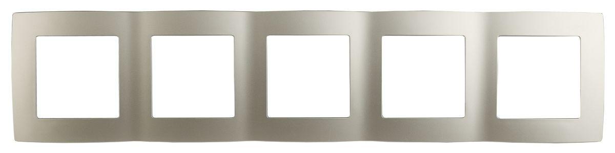 Рамка для встраиваемой розетки Эра, на 5 постов, горизонтальный и вертикальный монтаж, цвет: шампань12-5005-04Рамка Эра выполнена из пластика и используется для окантовки встраиваемой розетки. Возможен как горизонтальный, так и вертикальный монтаж изделия. Рамка отвечает основным требованиям безопасности и удобства монтажа. Современный дизайн и элегантная цветовая гамма подойдут к любому интерьеру. Размер рамки: 36,5 х 8 х 1 см.