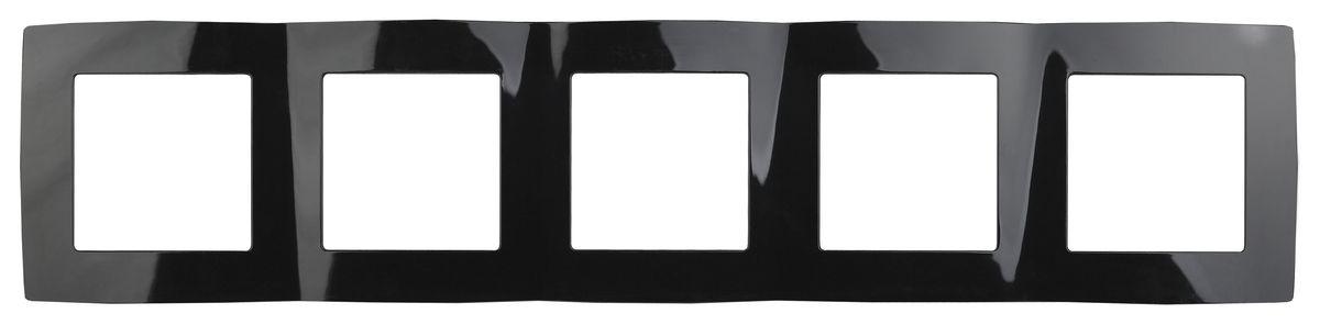 Рамка для встраиваемой розетки Эра, на 5 постов, горизонтальный и вертикальный монтаж, цвет: черный12-5005-06Рамка Эра выполнена из пластика и используется для окантовки встраиваемой розетки. Возможен как горизонтальный, так и вертикальный монтаж изделия. Рамка отвечает основным требованиям безопасности и удобства монтажа. Современный дизайн и элегантная цветовая гамма подойдут к любому интерьеру. Размер рамки: 36,5 х 8 х 1 см.