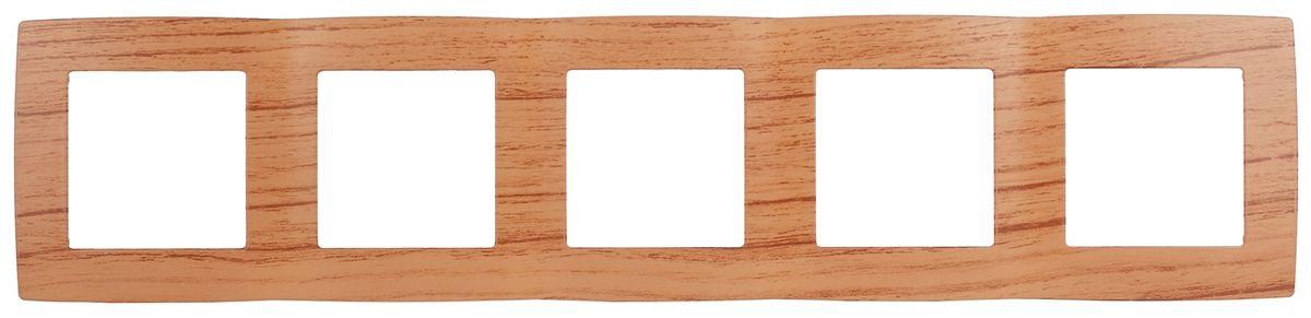 Рамка для встраиваемой розетки Эра, на 5 постов, горизонтальный и вертикальный монтаж, цвет: дуб12-5005-09Рамка Эра выполнена из пластика и используется для окантовки встраиваемой розетки. Возможен как горизонтальный, так и вертикальный монтаж изделия. Рамка отвечает основным требованиям безопасности и удобства монтажа. Современный дизайн и элегантная цветовая гамма подойдут к любому интерьеру. Размер рамки: 36,5 х 8 х 1 см.