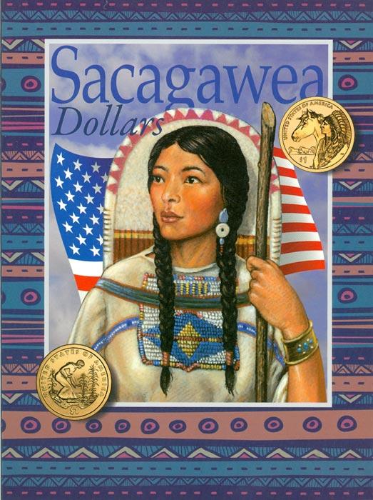 Альбом для долларов серии Сакагавея739Альбом для долларов серии Сакагавея Альбом содержит 32 ячейки для всех 1-долларовых монет серии Сакагавея - Коренная американка (Sacagawea dollar - Native American) с 2000 г. по настоящее время. Ячейки вышедших с 2000 по 2014 гг монет, подписаны, остальные 15 ячеек свободны для дальнейшего выпуска. В альбоме нет разделения на монетные дворы.