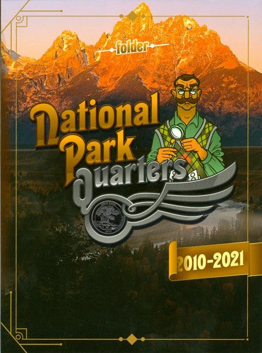 Альбом для монет 25 центов Национальные парки Америки739Альбом для монет США 25 центов, серия The Beautiful America. В альбоме 56 ячеек для всей серии монет с 2010 по 2021 год плюс 4 свободные ячейки. Рядом с каждой ячейкой - название штата и национального парка Америки.