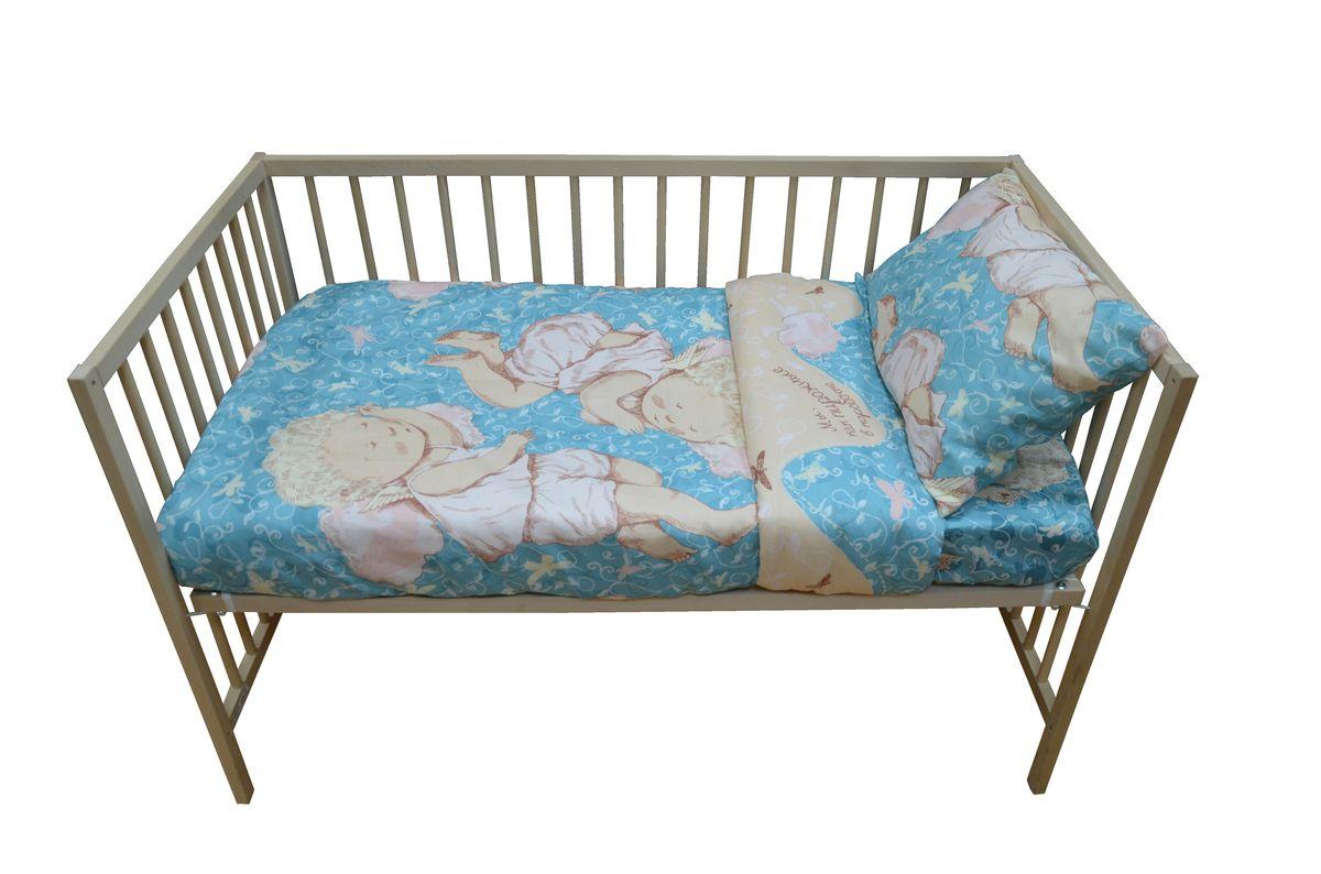 Коллекция Комплект детского постельного белья Мы как пирожные в коробочке цвет мятный