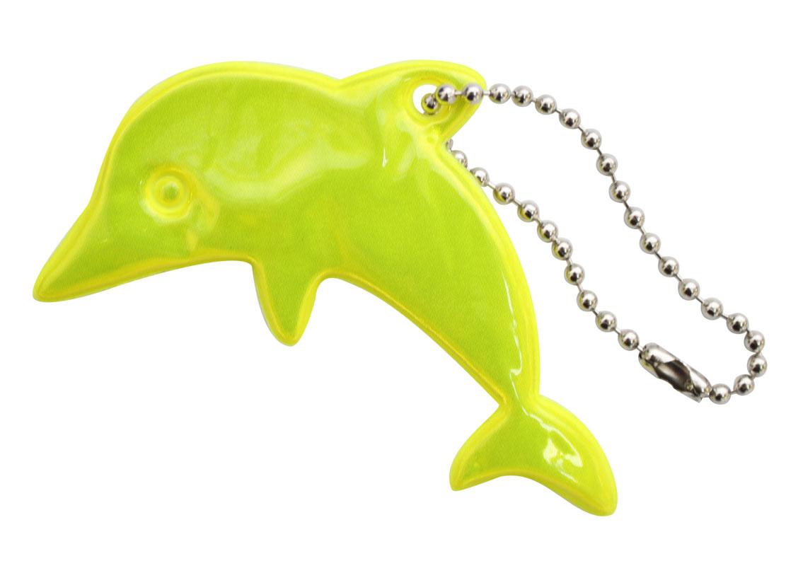 Декоративное подвесное украшение Bestex Дельфин, светоотражающее, цвет: желтый , 2 шт.7714887_желтый