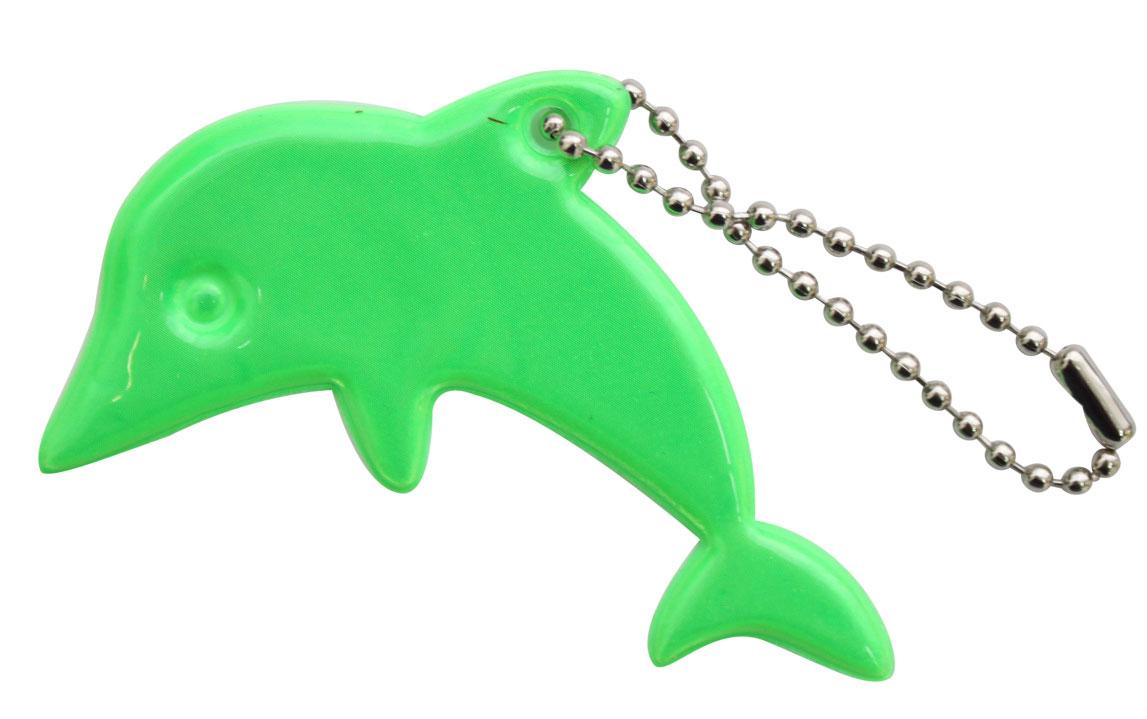Декоративное подвесное украшение Bestex Дельфин, светоотражающее, цвет: зеленый , 2 шт.7714887_зеленый