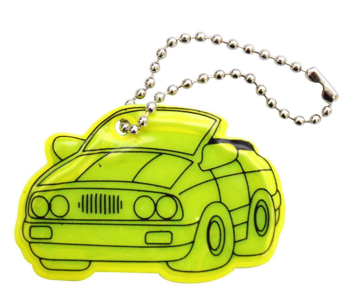 Декоративное подвесное украшение Bestex Машина, светоотражающее, цвет: желтый , 2 шт.7714885_желтый