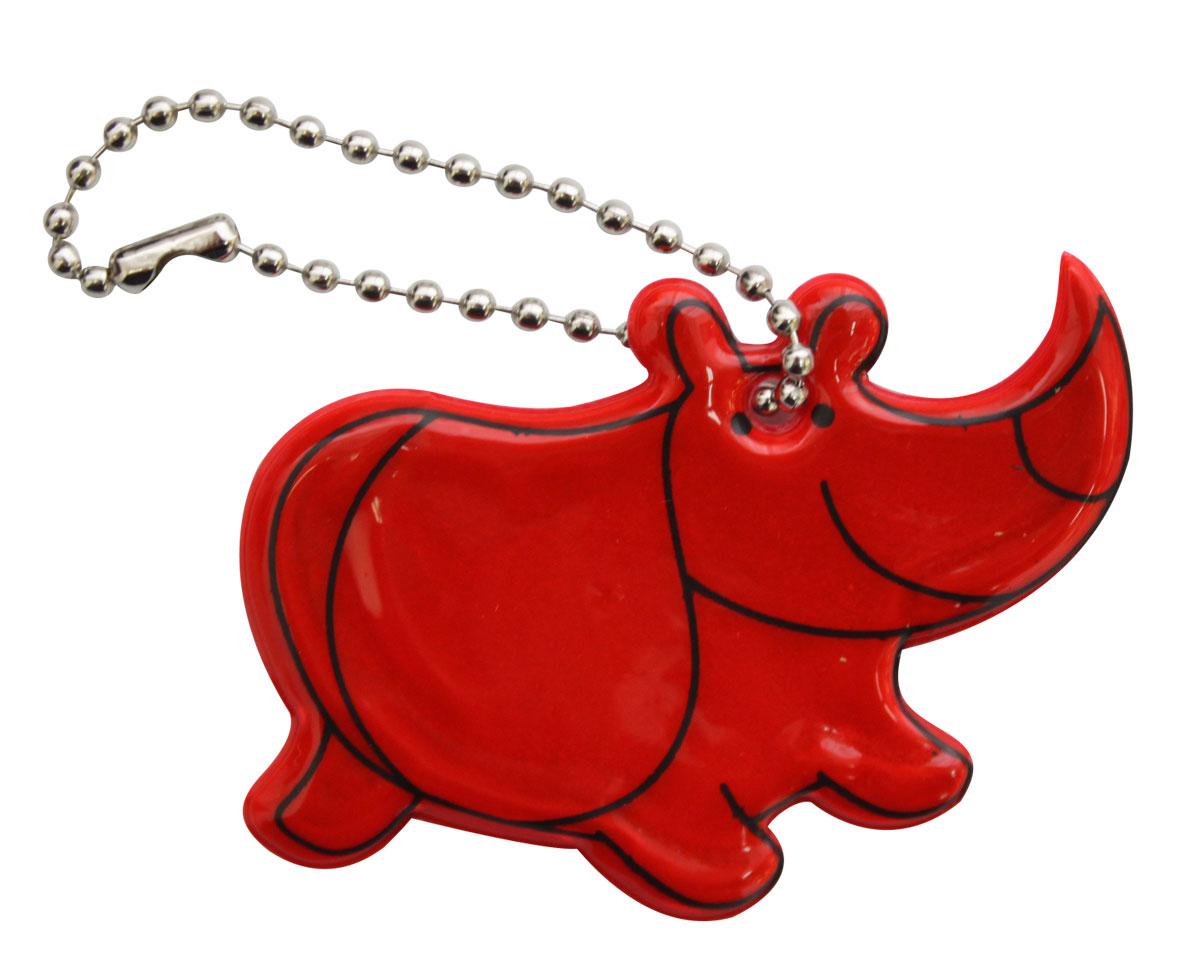 Декоративное подвесное украшение Bestex Носорог, светоотражающее, цвет: красный , 2 шт.7714891_красный