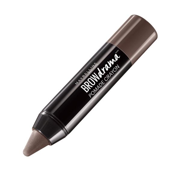 Maybelline New York Восковый карандаш-стик для бровей Brow Drama, Pomade, восковый карандаш-стик, оттенок 04, Темно-коричневый, 1,1гB27186001-ый кремовый карандаш-стик для бровей в трех оттенках.